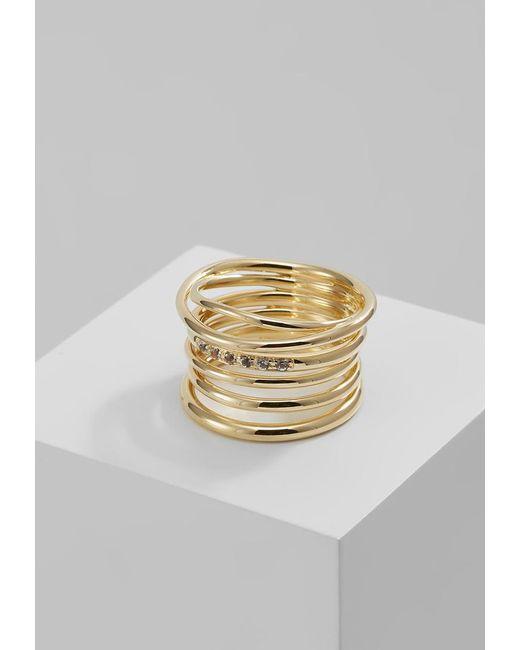 Elizabeth and James | Metallic Roxy Ring | Lyst