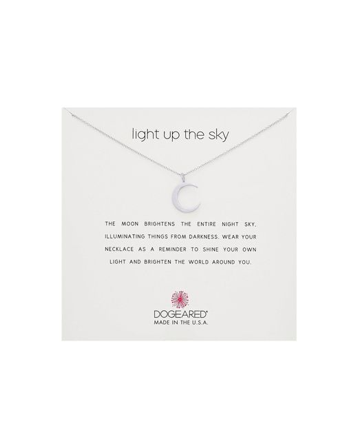 Dogeared - Metallic Light Up The Sky Thin Crescent Moon Necklace - Lyst
