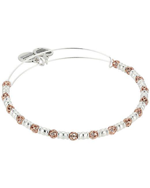 ALEX AND ANI - Multicolor Orbit Bangle (rafaelian Gold/rafaelian Silver) Bracelet - Lyst