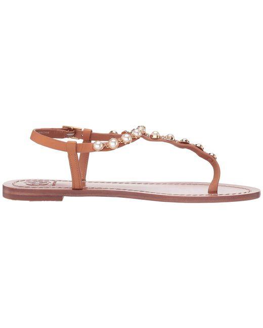 e87176ad480328 ... Lyst Tory Burch - Pink Emmy Pearl Sandal (tan) Women s Sandals ...