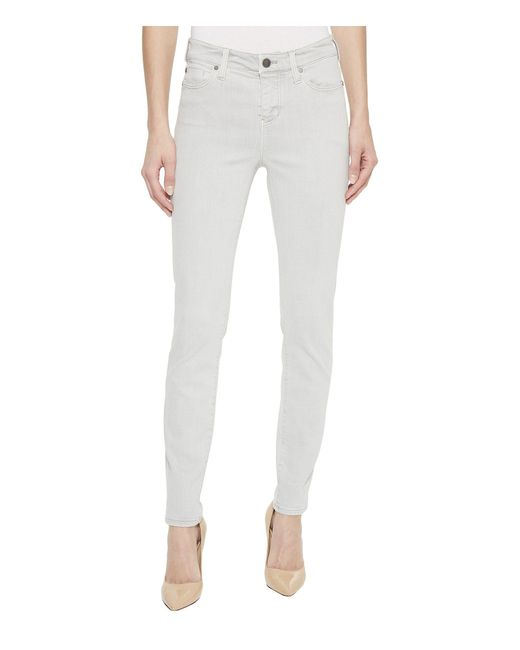 Liverpool Jeans Company - Gray Penny Ankle In Slub Stretch Twill In Fossil Grey - Lyst