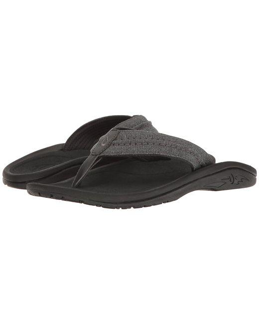 Olukai - Black Hokua Mesh (night/dark Shadow) Men's Sandals for Men - Lyst
