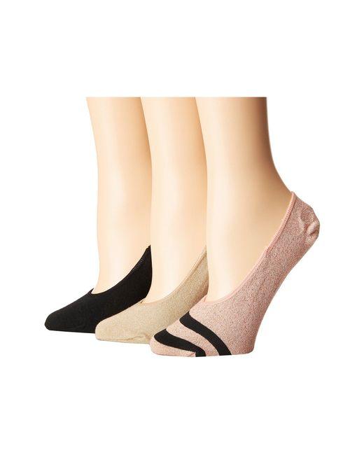 Steve Madden - Multicolor 3-pack Stripe Footie (rose Gold) Women's Crew Cut Socks Shoes - Lyst