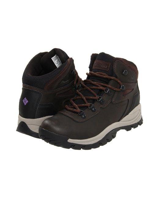 Columbia - Gray Newton Ridge Plus (cordovan/crown Jewel) Women's Hiking Boots - Lyst