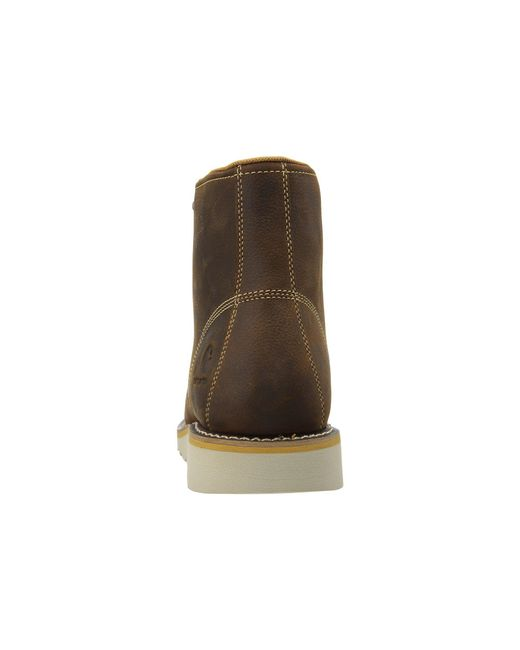 027db825996f ... Carhartt - 6 Waterproof Wedge Boot (brown Oil Tanned Leather) Men s Lace -up ...