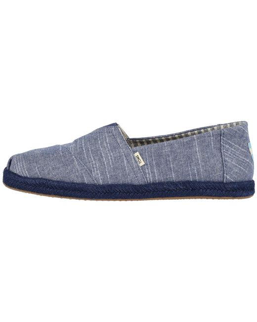 1bbdc49f79 ... TOMS - Blue Alpargata (navy Ivy League On Rope) Men's Slip On Shoes for  ...