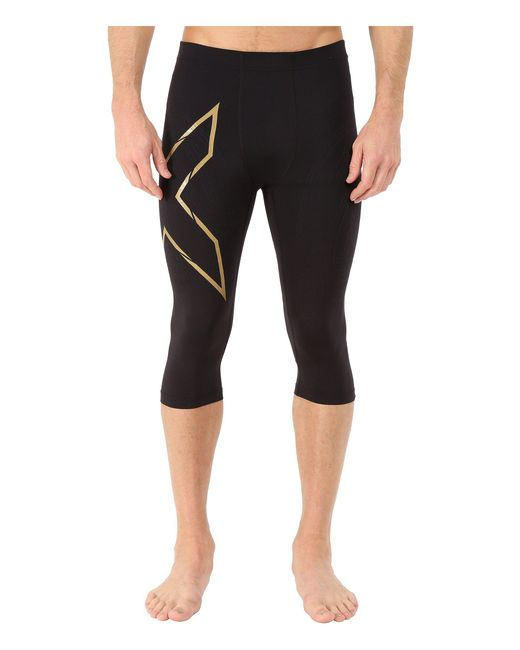 2xu - Alpine Mcs Thermal Compression 3/4 Tights (black/gold) Men's Workout for Men - Lyst