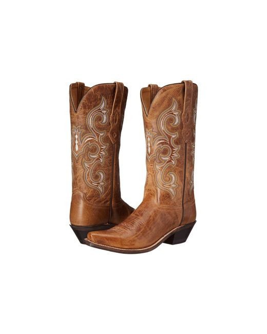 Old West Boots - Brown Lf1541 (tan Fry) Cowboy Boots - Lyst