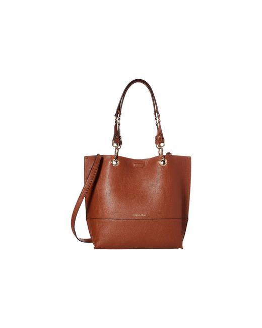 Calvin Klein - Brown Unlined Tote (black/grey) Tote Handbags - Lyst