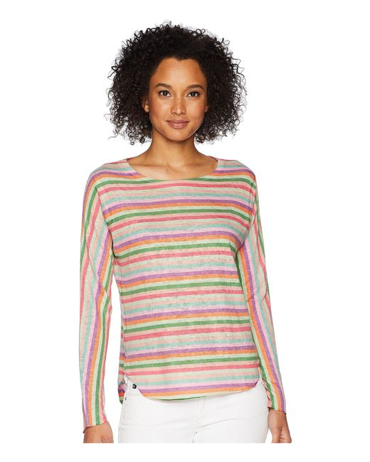 Nally & Millie - Multicolor Pink Stripe Top (multi) Women's Clothing - Lyst