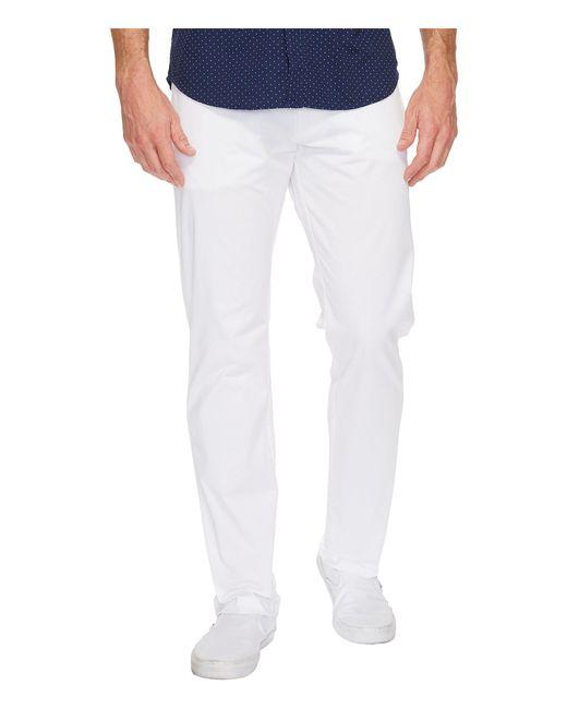 Calvin Klein - White Slim Fit 4-pocket Stretch Sateen Pant (classic Khaki) Men's Clothing for Men - Lyst