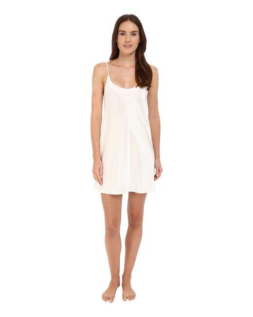 La Perla - White Silk Chemise (black) Women's Pajama - Lyst