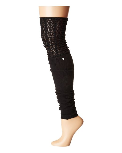 ToeSox Black Sasha Leg Warmer Thigh-high