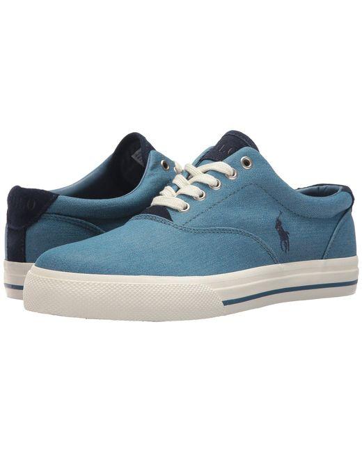 Polo Ralph Lauren - Blue Vaughn (grey Colored Denim) Men's Shoes for Men - Lyst