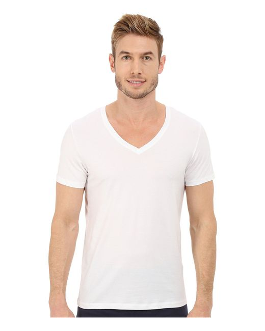 Hanro - White Cotton Superior V-neck Shirt for Men - Lyst