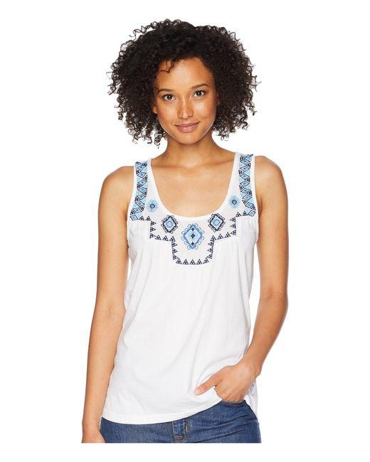 Roper - 1812 Cotton Flax Tank Top (white) Women's Sleeveless - Lyst