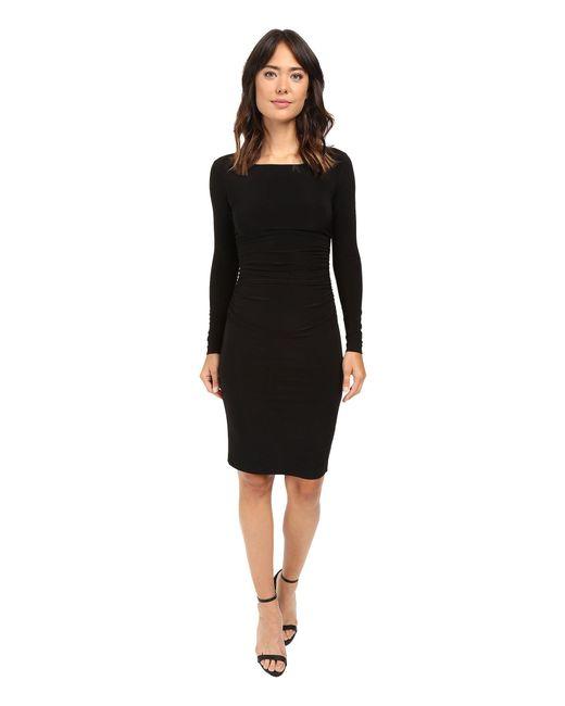 Kamalikulture - Black L/s Shirred Waist Dress - Lyst