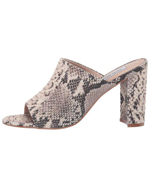776f9291bac ... Steve Madden - Esmeralda Heeled Mule (natural Snake) Women s Clog Shoes  ...