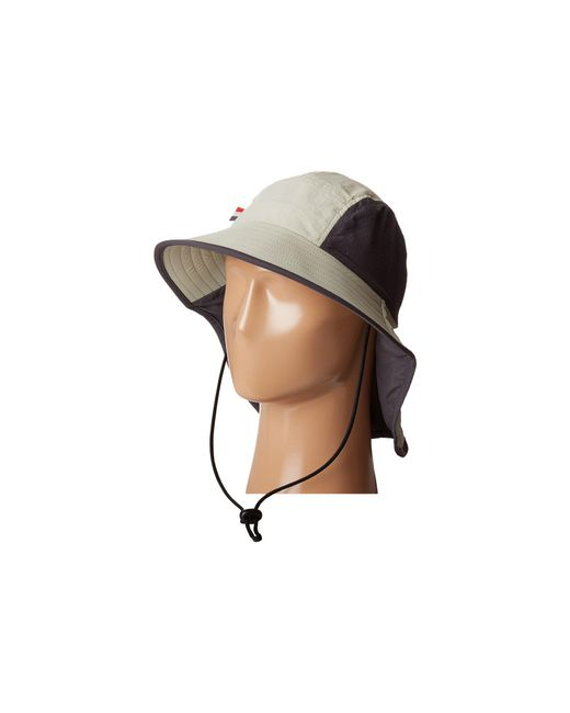 San Diego Hat Company | Natural Ocm4622 Lightweight Outdoor Hat With Perforated Crown Inset, And Adjustable Chin Corn And Neck Flap | Lyst