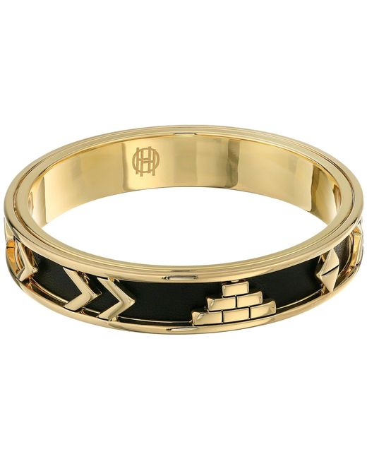 House of Harlow 1960 | Yellow Aztec Bangle With Black Leather | Lyst