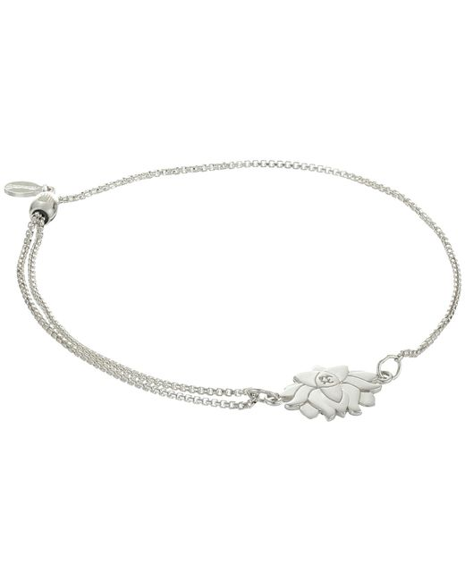 ALEX AND ANI - Metallic Precious Ii Collection Lotus Peace Petals Adjustable Bracelet (sterling Silver Finish) Bracelet - Lyst