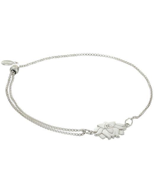 ALEX AND ANI - Metallic Precious Ii Collection Lotus Peace Petals Adjustable Bracelet - Lyst