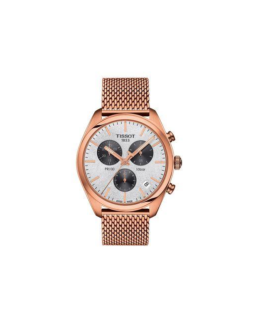 Tissot - Metallic Pr 100 Chronograph - T1014173303101 (silver/rose Gold) Watches - Lyst