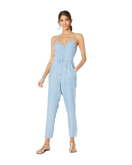 dd74defb4a5 RVCA - Blue Flasher Chambray (chambray) Women s Jumpsuit   Rompers One  Piece - Lyst ...