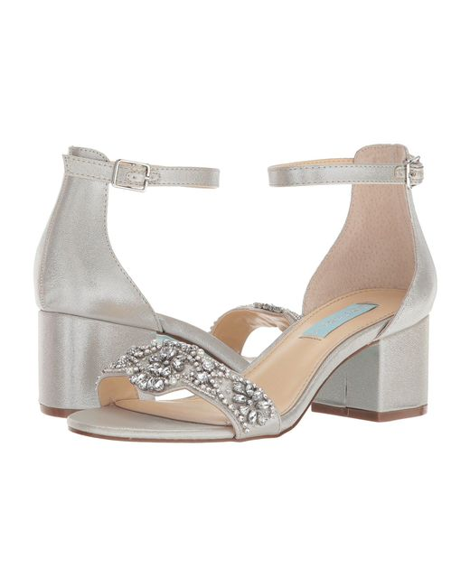 Betsey Johnson - Metallic Mel (champagne) High Heels - Lyst