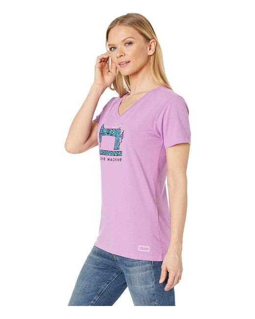 955196f679a ... Life Is Good. - Purple Love Machine Crushertm Vee (happy Grape) Women s  T ...