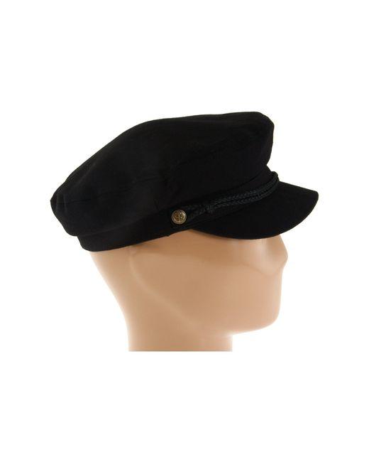 ... Brixton - Fiddler (black Herringbone Twill) Traditional Hats - Lyst ... e9e7b6c066d6