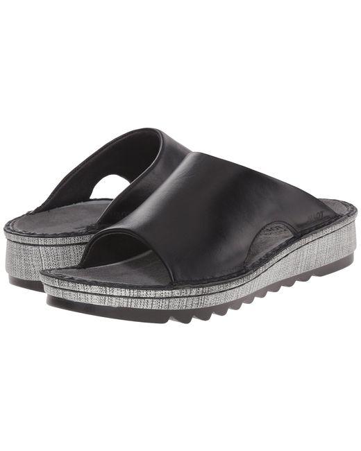 Naot - Black Ardisia (buffalo Leather) Women's Sandals - Lyst