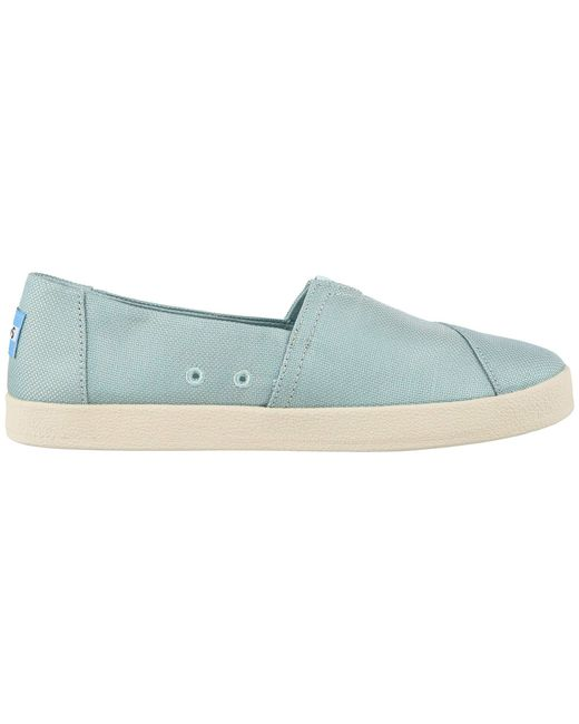 69d317dd8d3 Lyst - Toms Avalon (bloom Slubby Cotton) Women s Shoes in Blue
