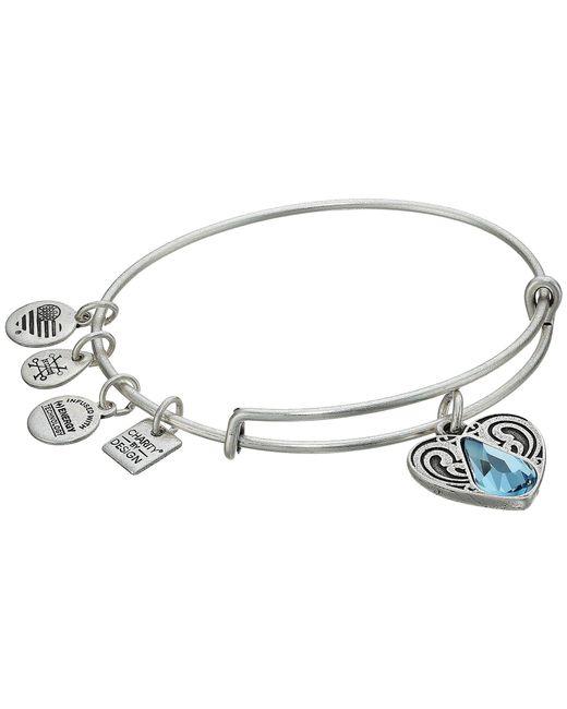 ALEX AND ANI - Metallic Charity By Design - Living Water Ii Bangle (rafaelian Silver) Bracelet - Lyst