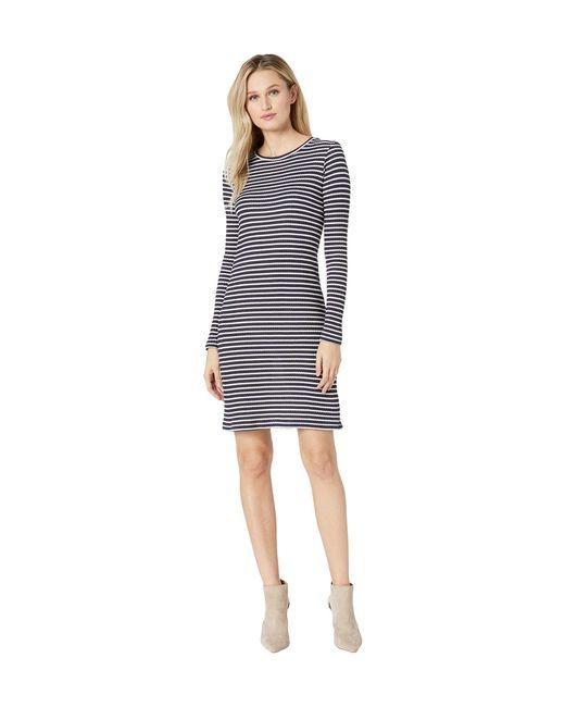 f17ce475d4828 MICHAEL Michael Kors - Blue Long Sleeve Striped Tee Dress (true Navy white)  ...