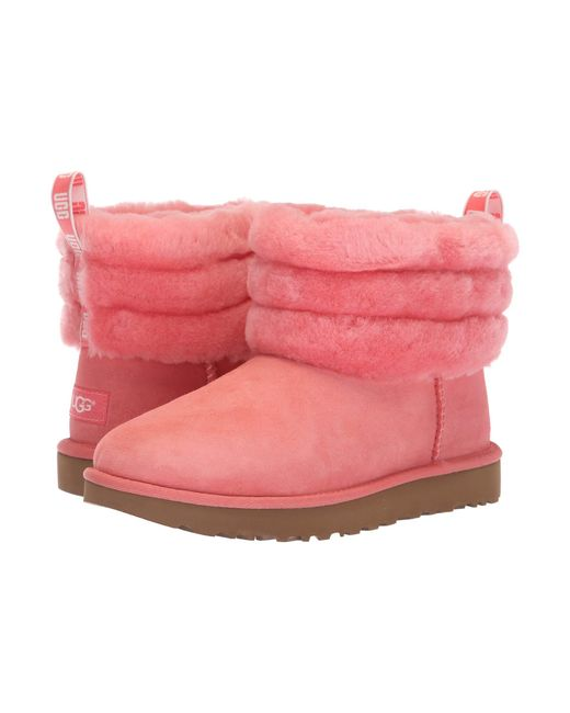 Ugg - Pink Fluff Mini Quilted (black) Women's Pull-on Boots ...