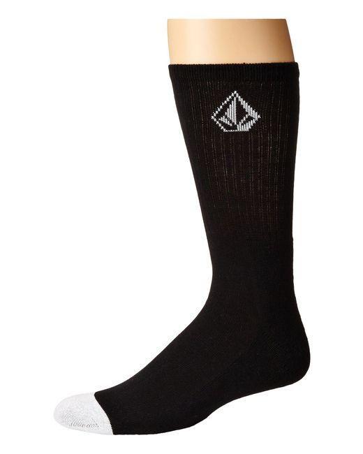 Volcom - Black Full Stone Sock for Men - Lyst