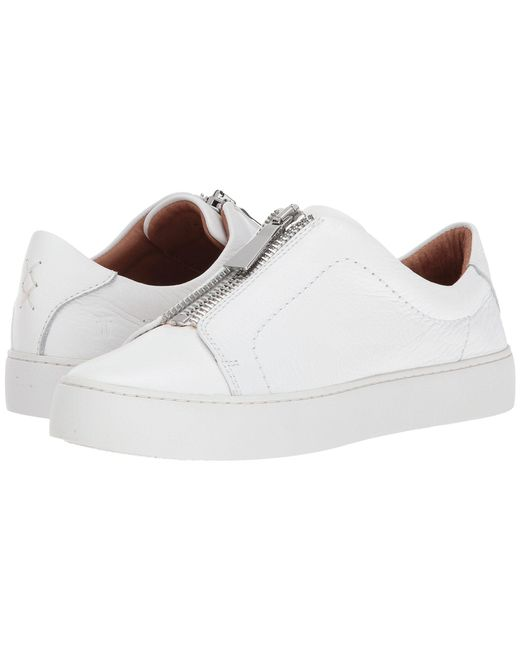 Frye - White Lena Zip Low (silver Metallic) Women's Lace Up Casual Shoes - Lyst