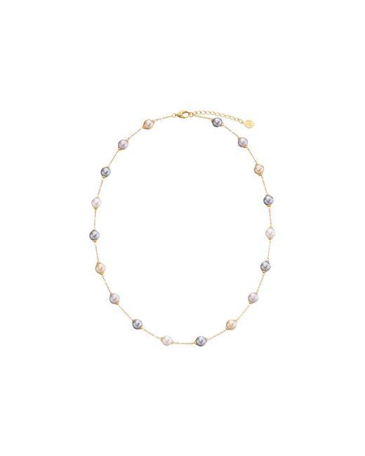 Majorica - Metallic 18/8mm Illusion Necklace (silver/white) Necklace - Lyst