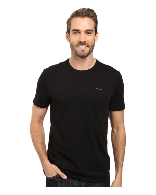 CALVIN KLEIN 205W39NYC - Black Short Sleeve Pima Cotton Crew T-shirt for Men - Lyst