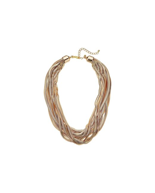 Kenneth Jay Lane - Metallic 10 Row Gold Snake Chain Necklace (gold) Necklace - Lyst