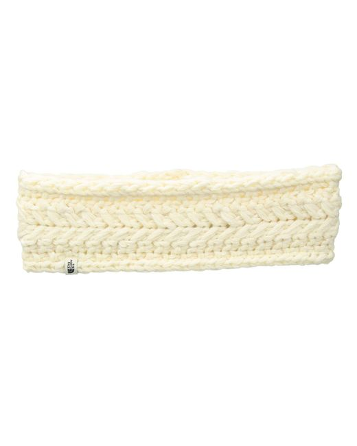 The North Face - Cable Minna Earband (vintage White) Cold Weather Hats - Lyst