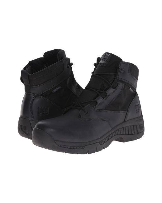 "Timberland - Black 6"" Valortm Duty Soft Toe Waterproof Side-zip for Men - Lyst"