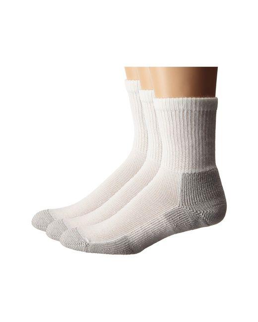 Thorlo - Gray Running Crew 3-pair Pack (white/platinum) Crew Cut Socks Shoes - Lyst