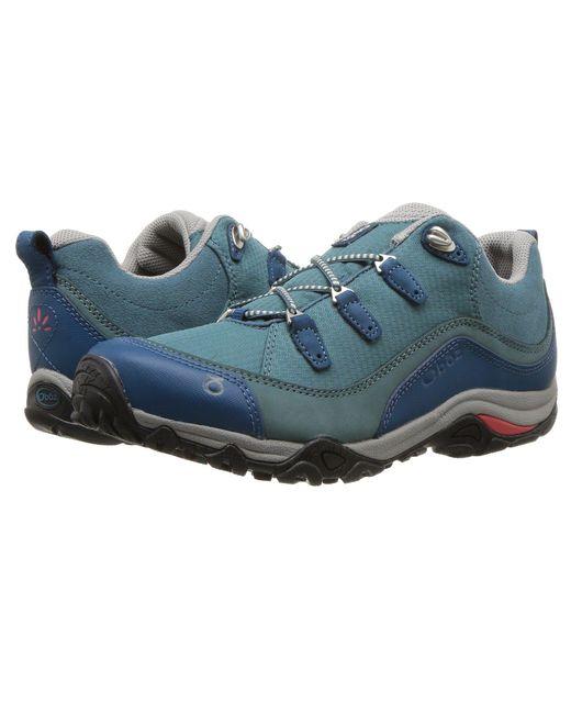 Oboz - Blue Juniper Low (hydro/cayenne) Women's Shoes for Men - Lyst