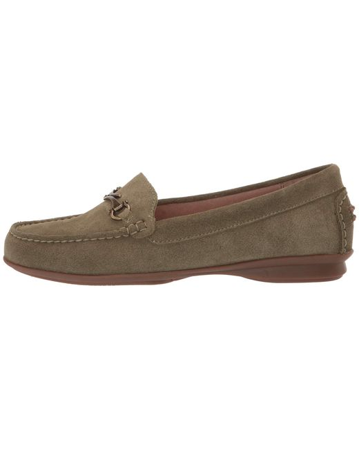 0742c55c9df Lyst - Taos Footwear Bit Moc (grey Suede) Women s Slip On Shoes in Green