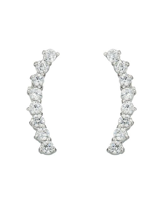Vince Camuto | Metallic Cubic Zirconia Thin Stud Earrings | Lyst