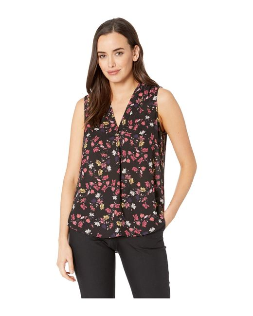 edd8d2ca6f02b7 Vince Camuto - Sleeveless Twilight Ditsy V-neck Blouse (rich Black) Women s  Blouse ...
