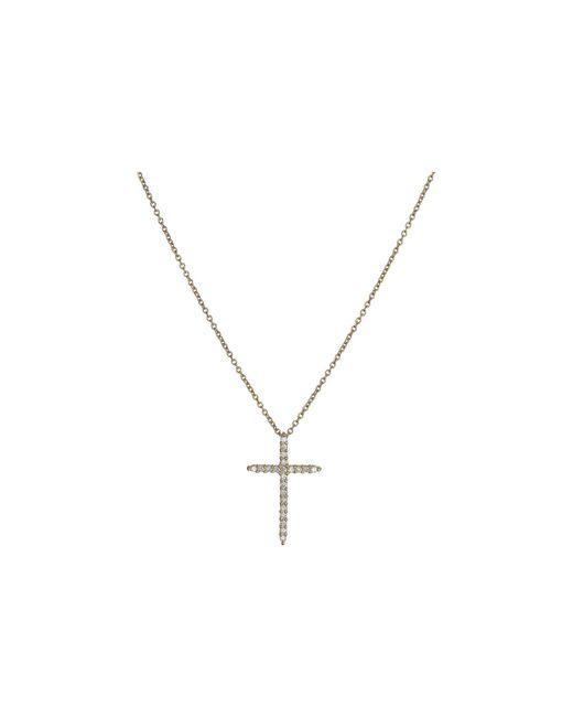 Roberto Coin - White Tiny Treasures Cross Pendant With Diamands - Lyst