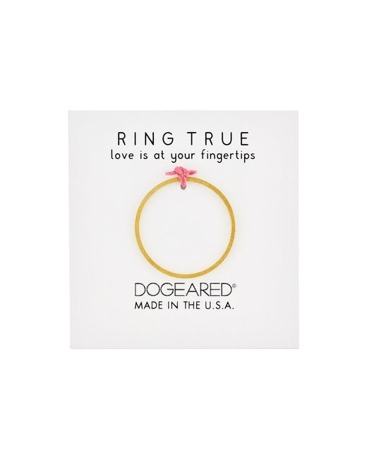 Dogeared | Metallic Thin Flat Band Ring | Lyst